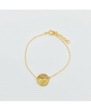 Bracelet pastille plaqué or