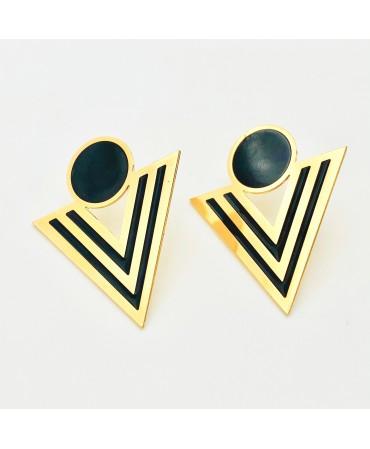 Boucles d'oreilles géométrique