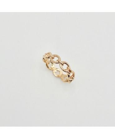 Bague anneau plaqué or